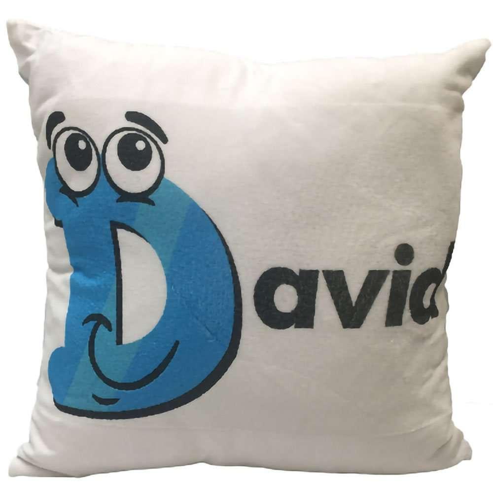 Personalised Blue Cushion