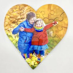 Personalised Heart Jigsaw – 34 pieces