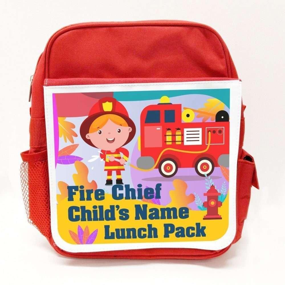 Personalised Printed Childrens Rucksack RED | Fantasy Prints