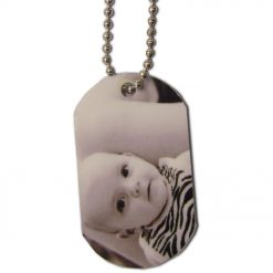 Personalised Printed Two Pendants and Chain