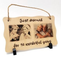 Personalised Printed Wooden Plaque Rectangle Shape